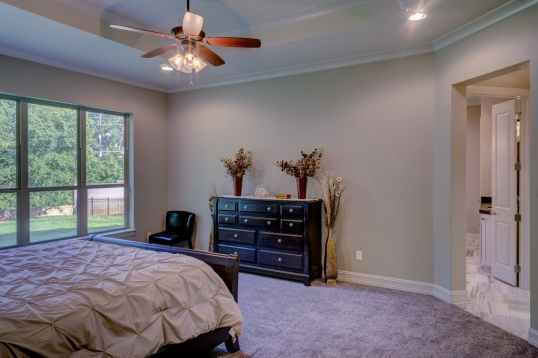 bed bedroom ceiling fan chair